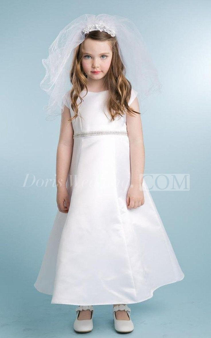 $49.60-Simple Cap-sleeved A-line Flower Girl Dress With Beadings and Bow. Girl Party Dress. http://www.doriswedding.com/simple-cap-sleeved-a-line-dress-with-beadings-and-bow-p400595.html. Looking for cheap Flower Girl Dresses? We have the best 2016 Flower Girl Dresses on sale.  Shop cheap flower girl dresses online at  http://www.doriswedding.com/cheap-flower-girl-dresses.html