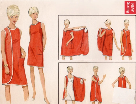 Vintage 1960s Sewing Pattern  2 Way Wrap Around by FriskyScissors, $10.00