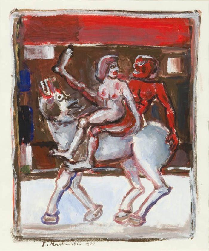 Eugeniusz Markowski - Dwóch jeźdźców, 1987 r.