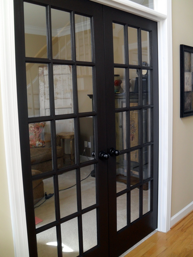 Painted French Doors   Black For Interior And White For Exterior?