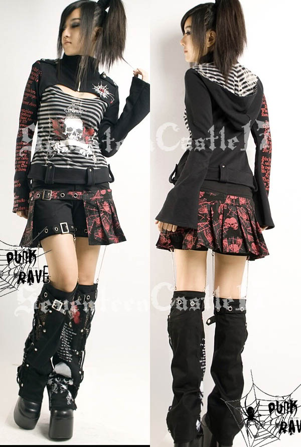 beautiful cute punk outfit dress
