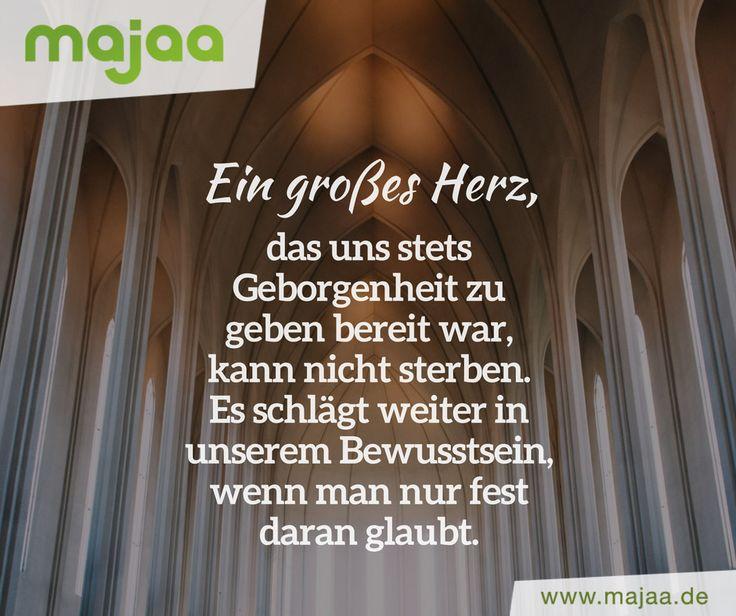 """Wunderschöne #Trauerverse von #majaa - """"Ein großes Herz"""""""