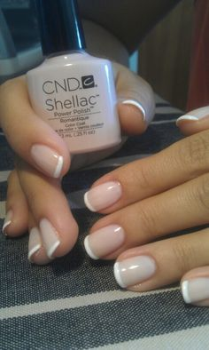 CND Shellac nail color # Romantique#  french manicure                                                                                                                                                      More
