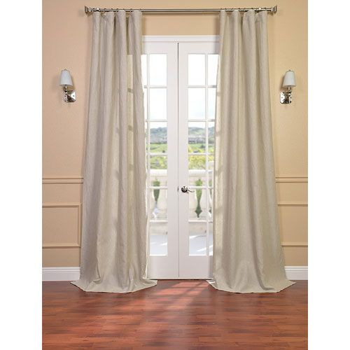 half price drapes signature birch french linen sheer single panel curtain panel 50 x 108 the. Black Bedroom Furniture Sets. Home Design Ideas