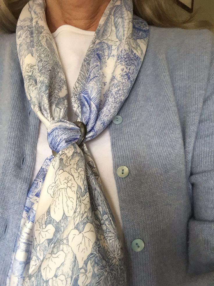 39 best Scarf knots images on Pinterest | Scarf knots ...