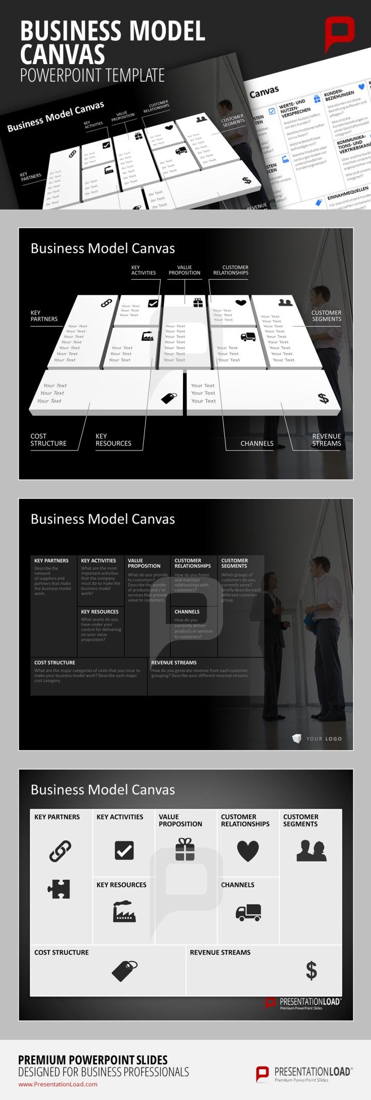 37 best business model canvas powerpoint templates images on business model canvas powerpoint template our designers provide you with a broad variety of different templates to present your individual business model toneelgroepblik Gallery