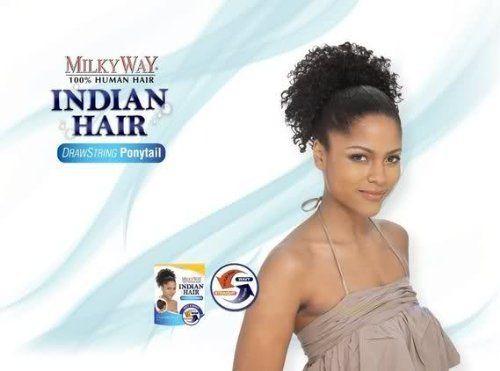 Milky Way 100 Human Hair Ponytail Indian Jerry Pony 8