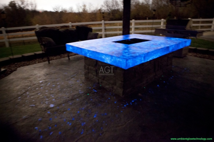 Glow In The Dark Fire Pit Energized With Agt Sky Blue
