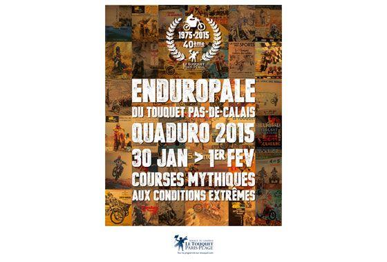 16-Carte postale Enduropale/Quaduro 2015 - LE TOUQUET PARIS PLAGE - Détail