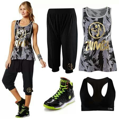 "cute but I don't like anything that says ""zumba"" so minus the print..."