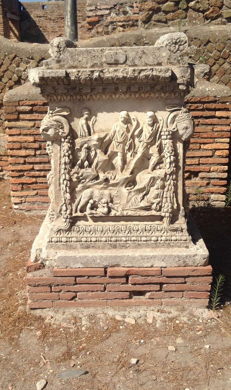 Artifact at Ostia Antica, day 4.