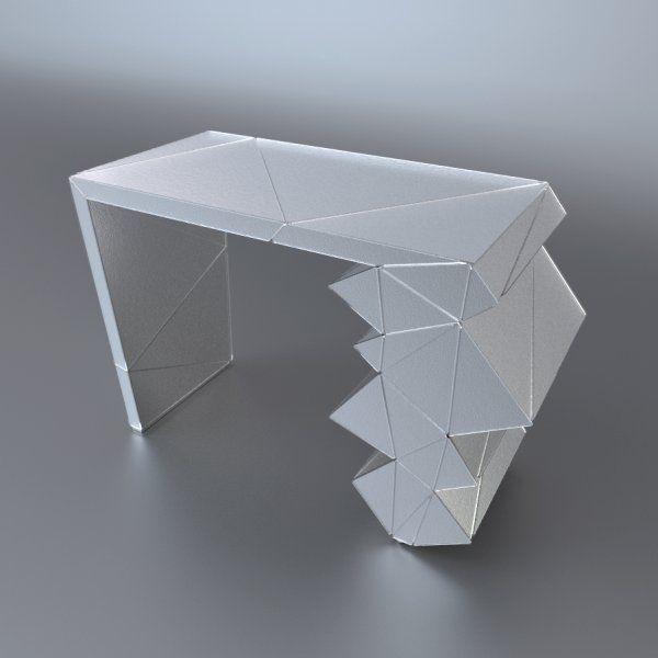 Console Wanamy   EXSUD Console en verre thermoformé lisse