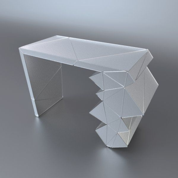 Console Wanamy | EXSUD Console en verre thermoformé lisse