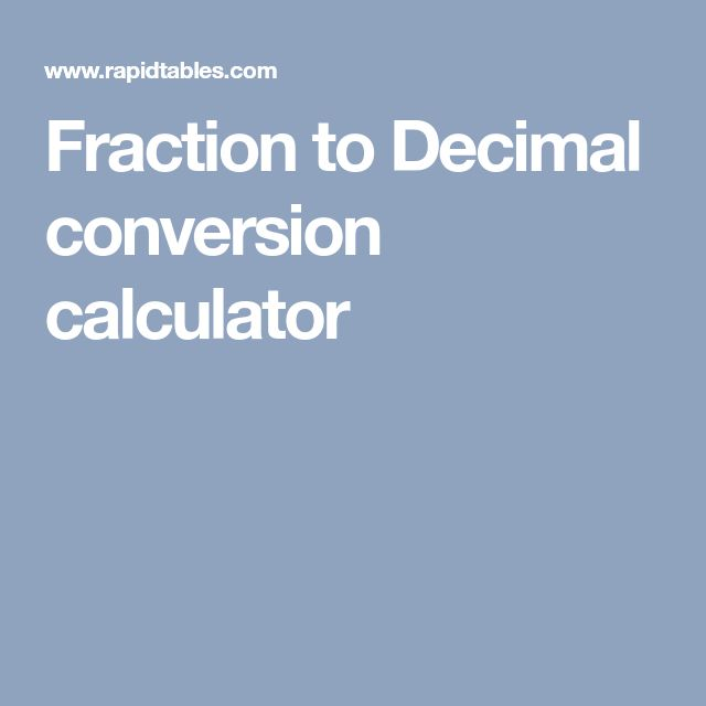 how to change decimal to fraction on calculator