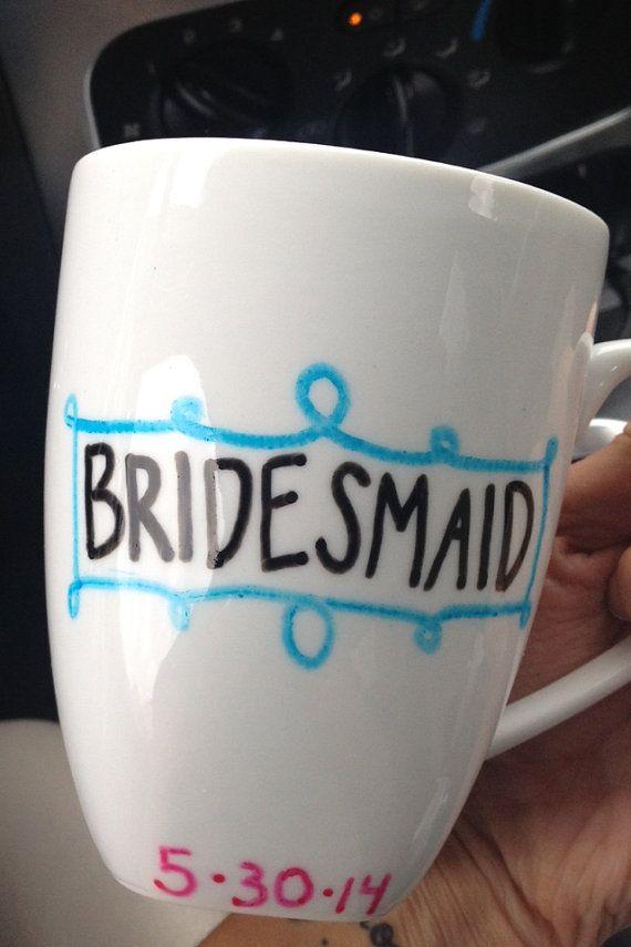 Will You Be My Bridesmaid Mug on Etsy $6.00 ...ADD diy ♥❤ www.customweddingprintables.com ... #customweddingprintables