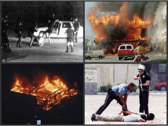 rodney king and the los angeles riots The rodney king riot of 1992 occurred in los angeles, california in response to a highly publicized incident of police brutality rodney king, who had worked as a.