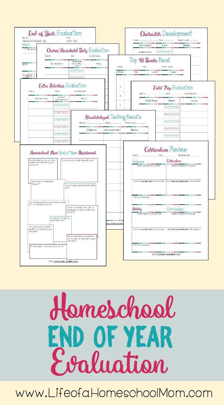 End of Homeschool Year Evaluation – Life of a Homeschool Mom