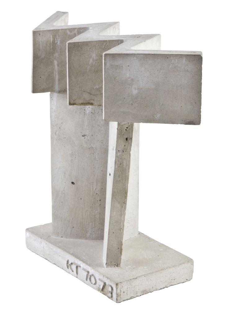Kain Tapper: Rakentaja, 1970-73, valettu betoni, k. 23 cm l. 22 cm - Hagelstam K136