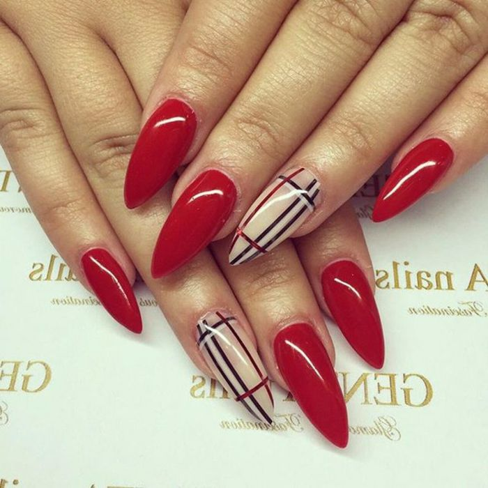 1001 Ideas For Pointy Nails Design And Inspiration Manicure And Nail Art Stiletto Nails