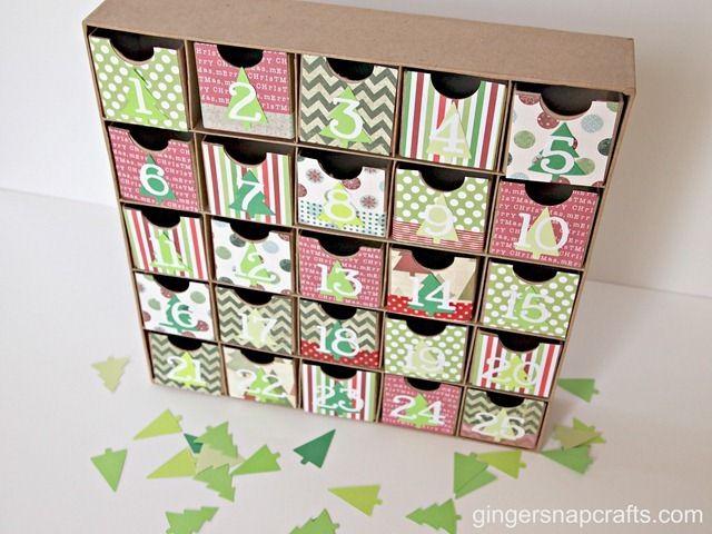 Christmas advent box using box from Hobby Lobby. Cute. #advent #christmas