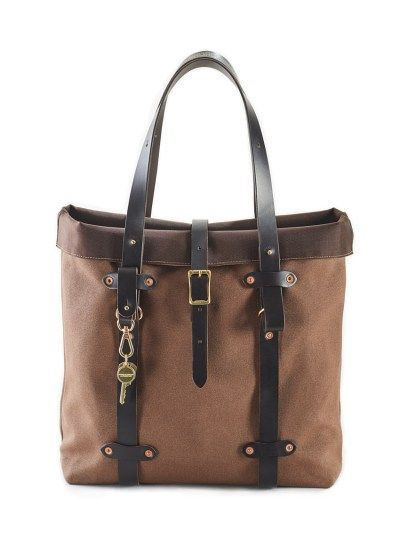 Wax Canvas Tote – Brown