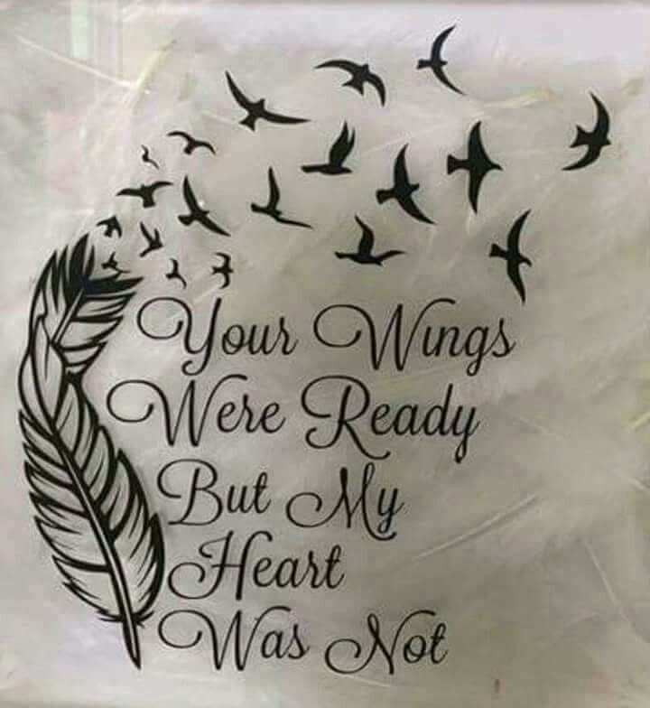 Your wings were ready, but my heart was not