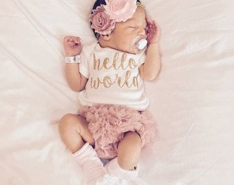 PRE ORDER SEPTEMBER Baby Girl Take Home Outfit by LolaBeanClothing