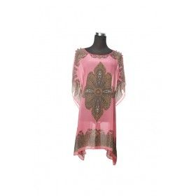 Silk Kaftan Top - Blush