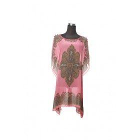Silk Kaftan Top - Blush