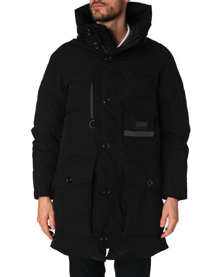Doudoune longue détails poches noire Asiago Tech - Museum - Available on Menlook.com