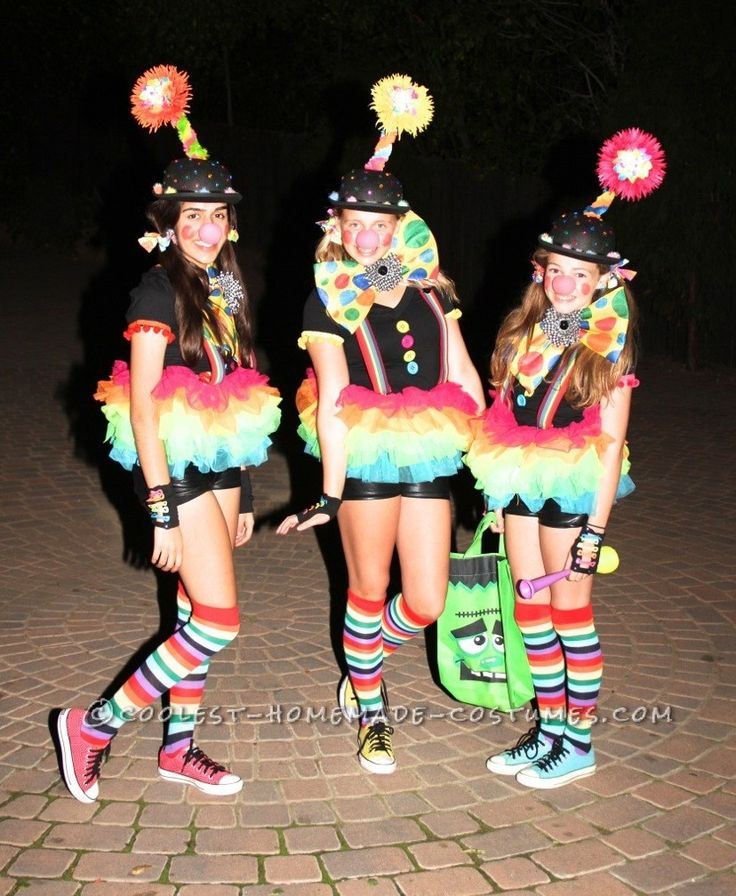 38 best clown costume ideas images on pinterest clown for Cute homemade halloween costumes for girls