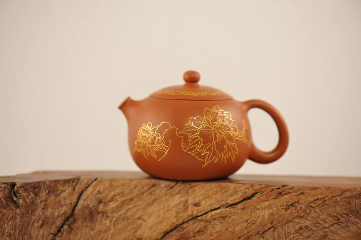 Hand made Yixing Teapot with gold inlay