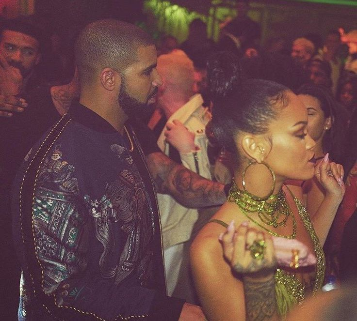 Rihanna and Drake hang out at Up and Down Club after attending the MTV Video Music Awards on August 28th