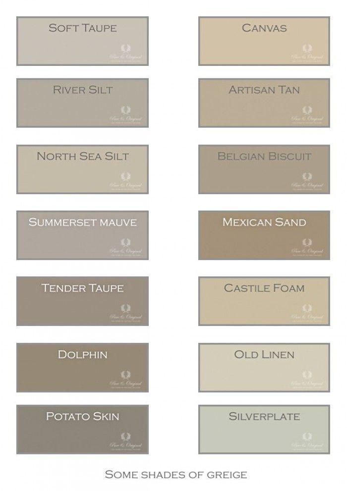 Greige de kleur grijs met een vleugje bruin en beige het maakt de kleur warmer dieper en - Kleurenkaart grijze verf ...