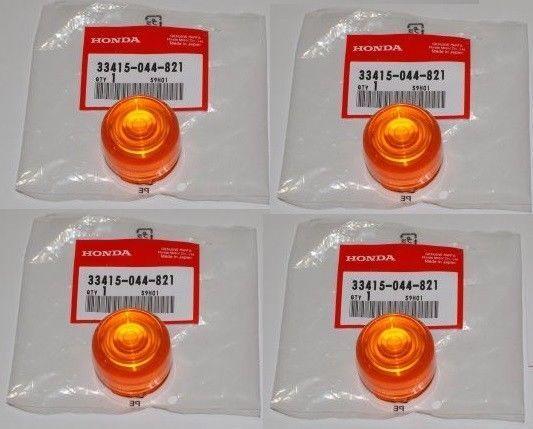 Set de 4 cabochons de clignotants oranges pour Honda Dax ST70 OT et NT / NEUFS /