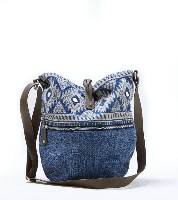 Indigo AEO Jaquard Hobo Handbag