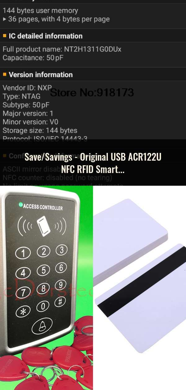 Original USB ACR122U NFC RFID Smart Card Reader Writer + 5