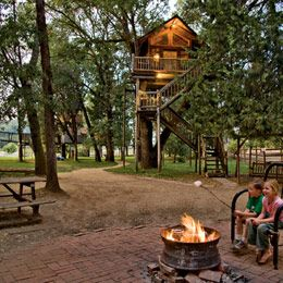 Don't tell me this doesn't look awesome!  Out-N-About Treehouse Treesort in Takilma, OR