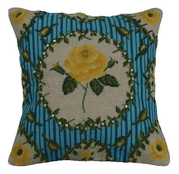 Needlepoint pattern ENGLISH ROSE - cross stitch,needlepoint,embroidery pattern,tapestry,pillow,floral,needlecraft,diy,anette eriksson,pink by anetteeriksson on Etsy