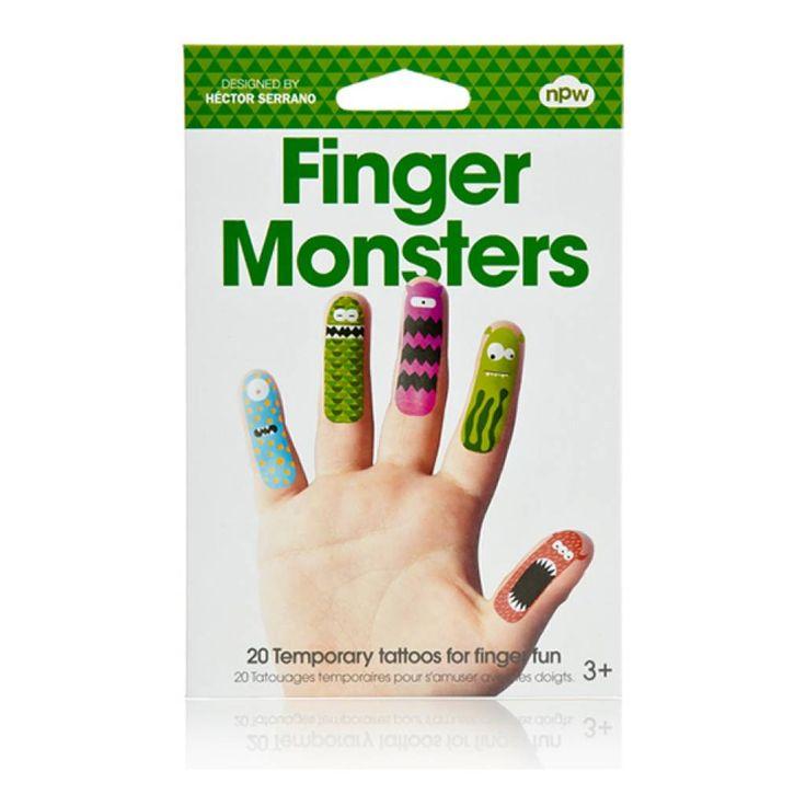 Worldwide Co Vingerstickers-monster - StudioZomooi