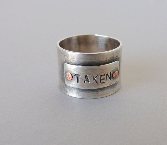 Sterling Stamped Wide Band Ring, Stamped Ring, Personalized Ring