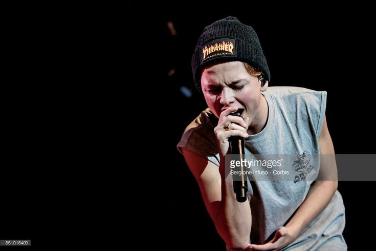 American singer and internet personality Jacob Sartorius performs on stage on October 13, 2017 in Milan, Italy.