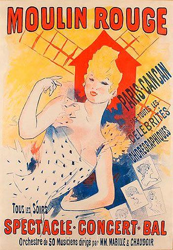 Moulin Rouge. Jules Cheret (1890)