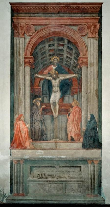 Explore this interactive image: Masaccio, The Holy Trinity by Sharon