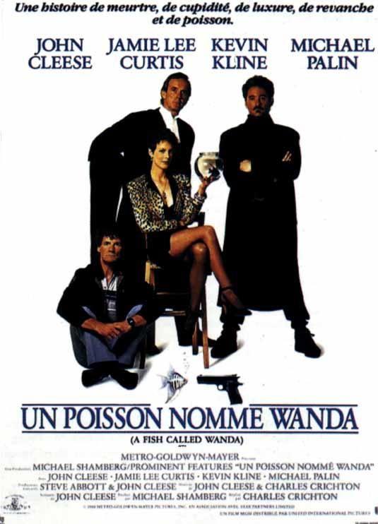 Un poisson nommé Wanda (1989) - Charles Crichton - John Cleese, Jamie Lee Curtis, Kevin Kline, Michael Palin