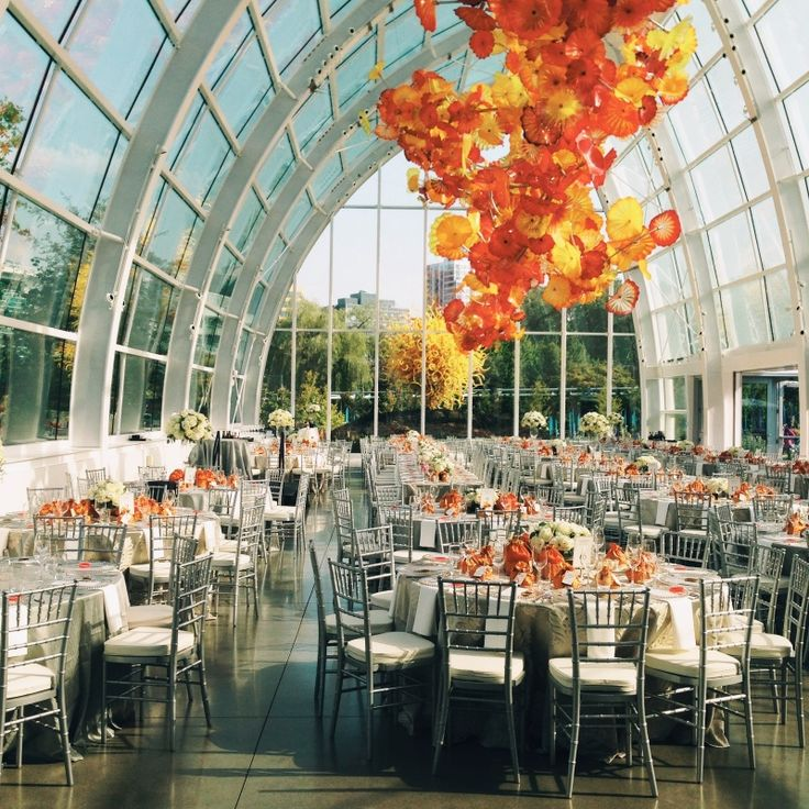 Wedding Reception At Chihuly Gl Garden In Seattle August 2 2017 Www