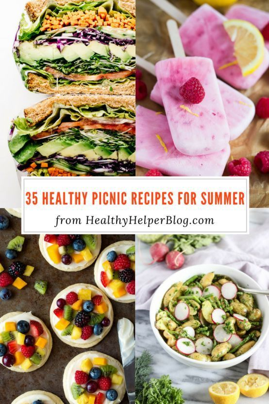 35 Healthy Picnic Recipes for Summer | Healthy Helper @Healthy_Helper July is National Picnic Month! Celebrate with this roundup of 35 Healthy Picnic Recipes for Summer. All the sides, mains, and desserts you could need to have the ultimate picnic lunch!