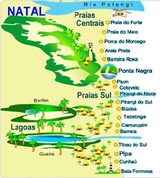 playas-natal-mapa