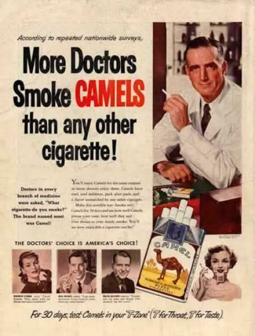 More doctors smoke Camels than any other cigarette