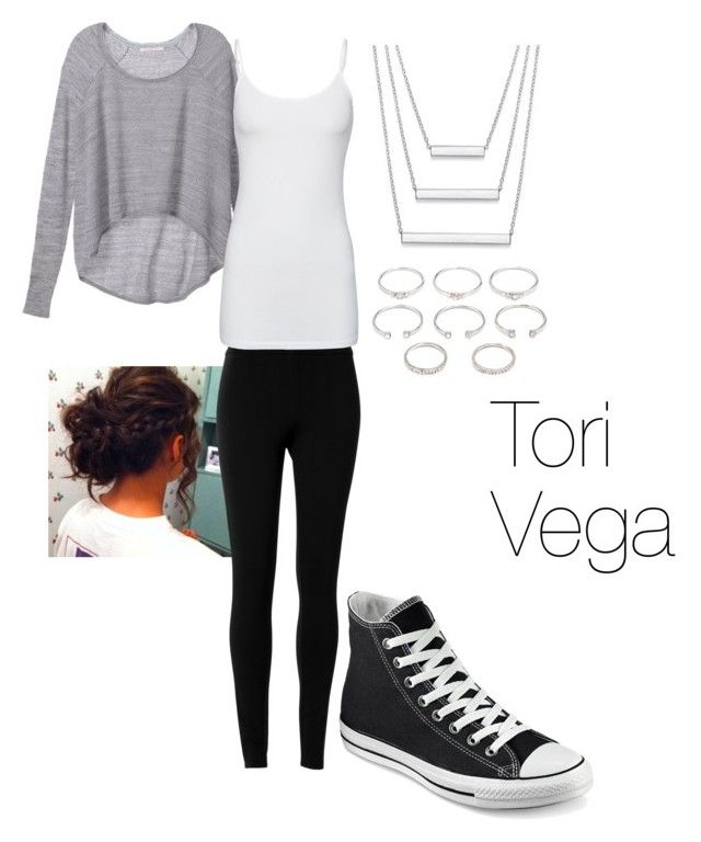 """Victorious, Tori Vega Outfit"" by ebeb1233 on Polyvore featuring Victoria's Secret, Max Studio, Splendid, Converse and Forever 21"